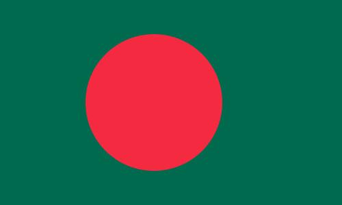 Bandera de Bangladesh (Bangladés)