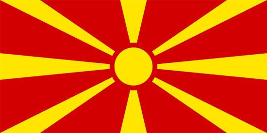 Bandera de República de Macedonia