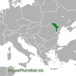 Mapa de Moldavia