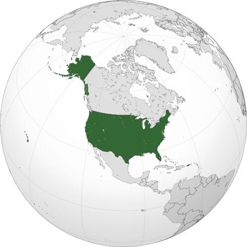 Localización geográfica de Estados Unidos