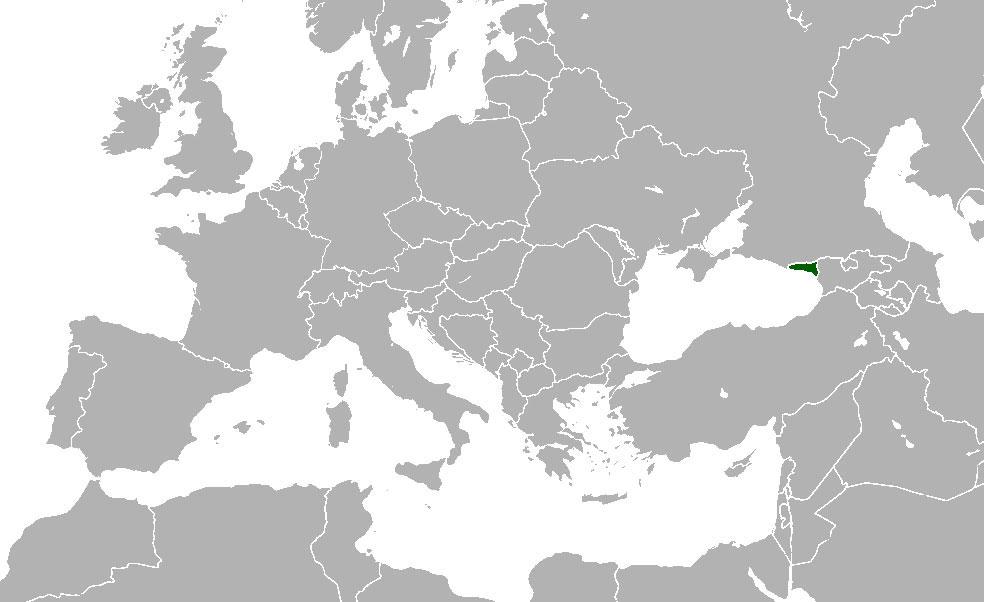 Localización geográfica de Abjasia