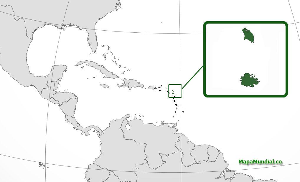 Localización geográfica de Antigua y Barbuda