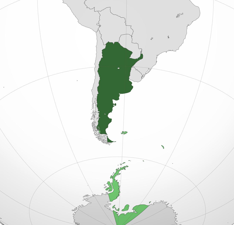 Localización geográfica de Argentina