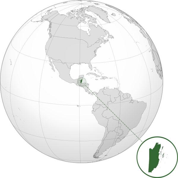 Localización geográfica de Belice