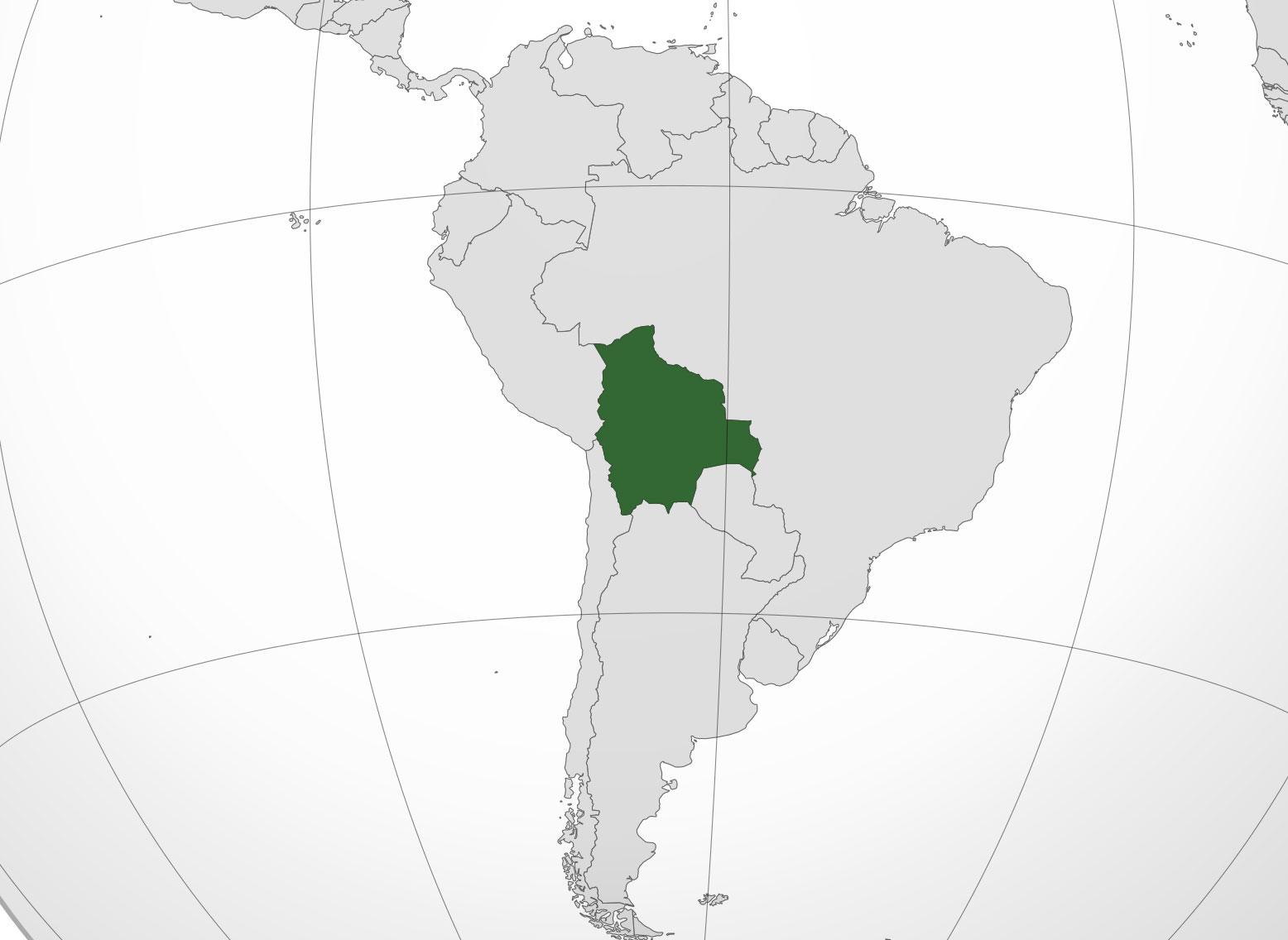 Localización geográfica de Bolivia