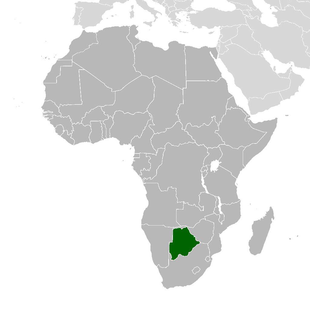Localización geográfica de Botswana