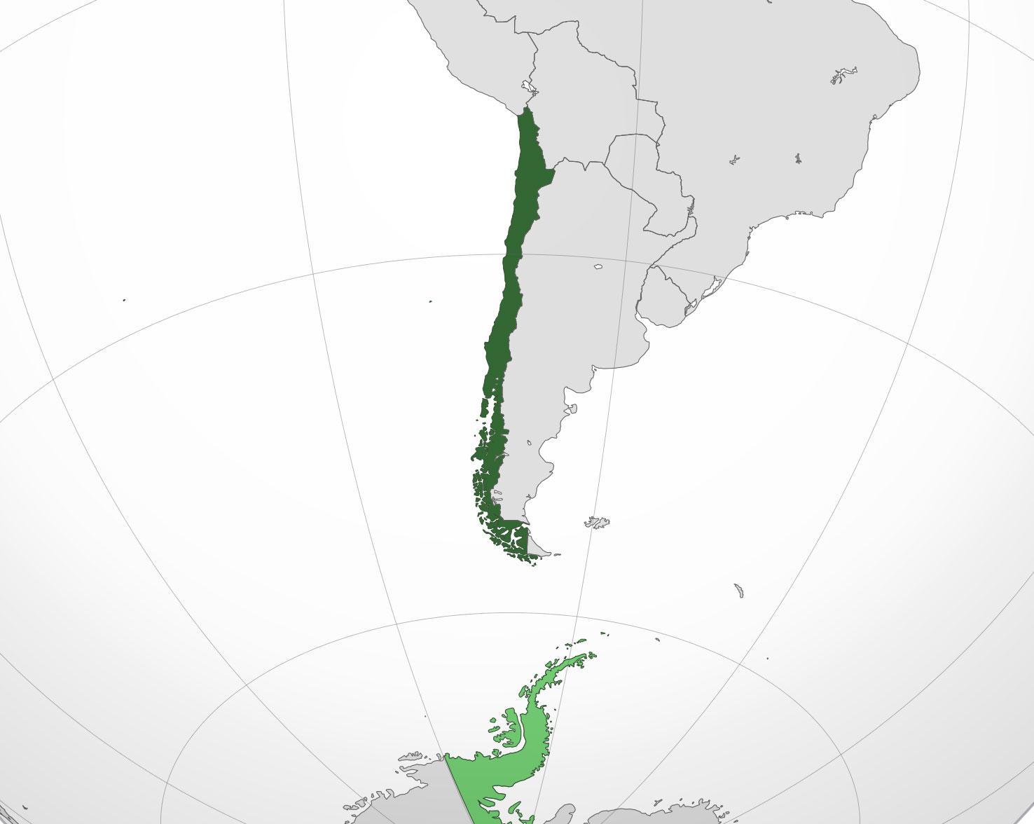 Localización geográfica de Chile