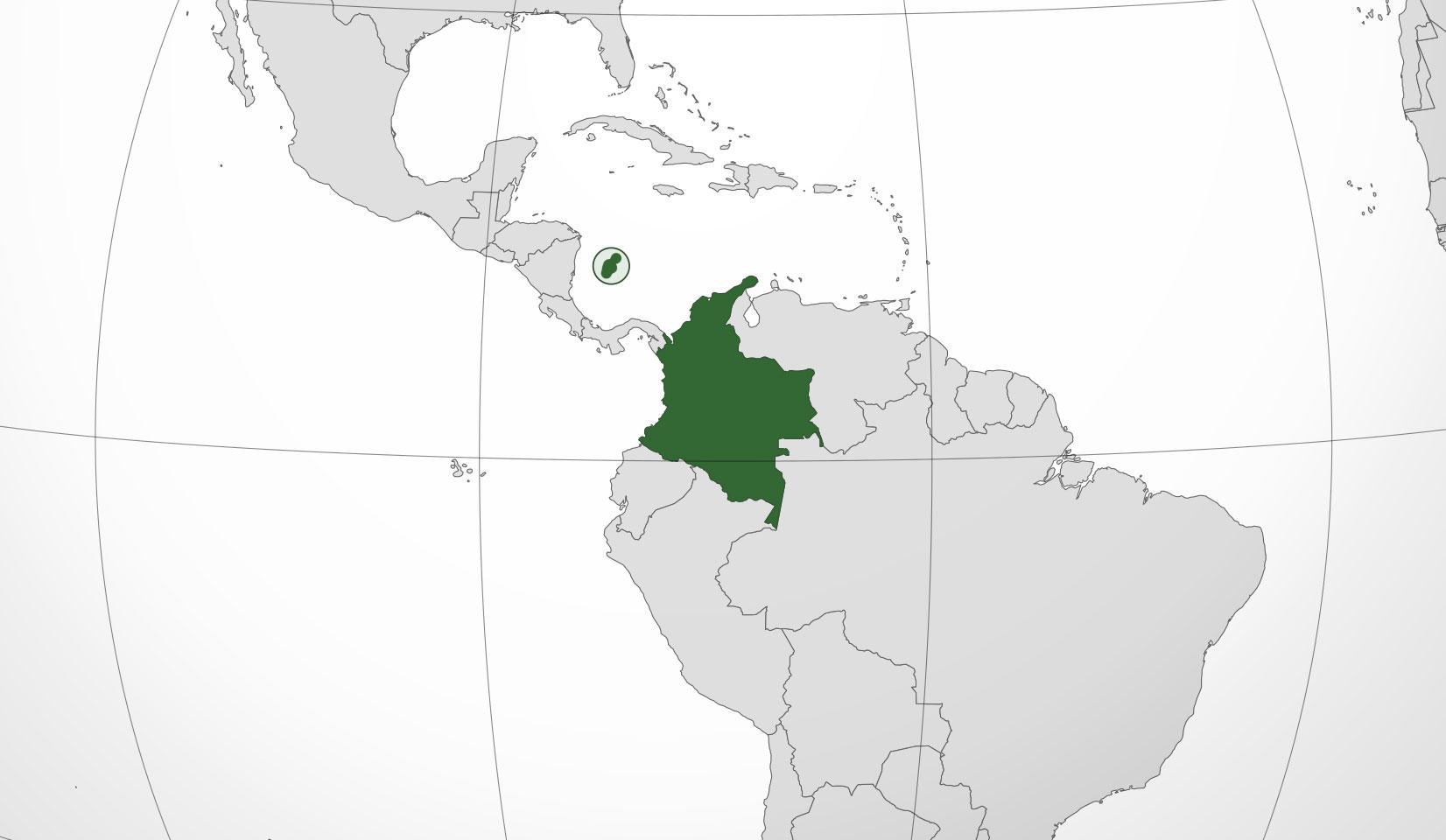Localización geográfica de Colombia