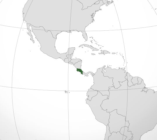 Localización geográfica de Costa Rica