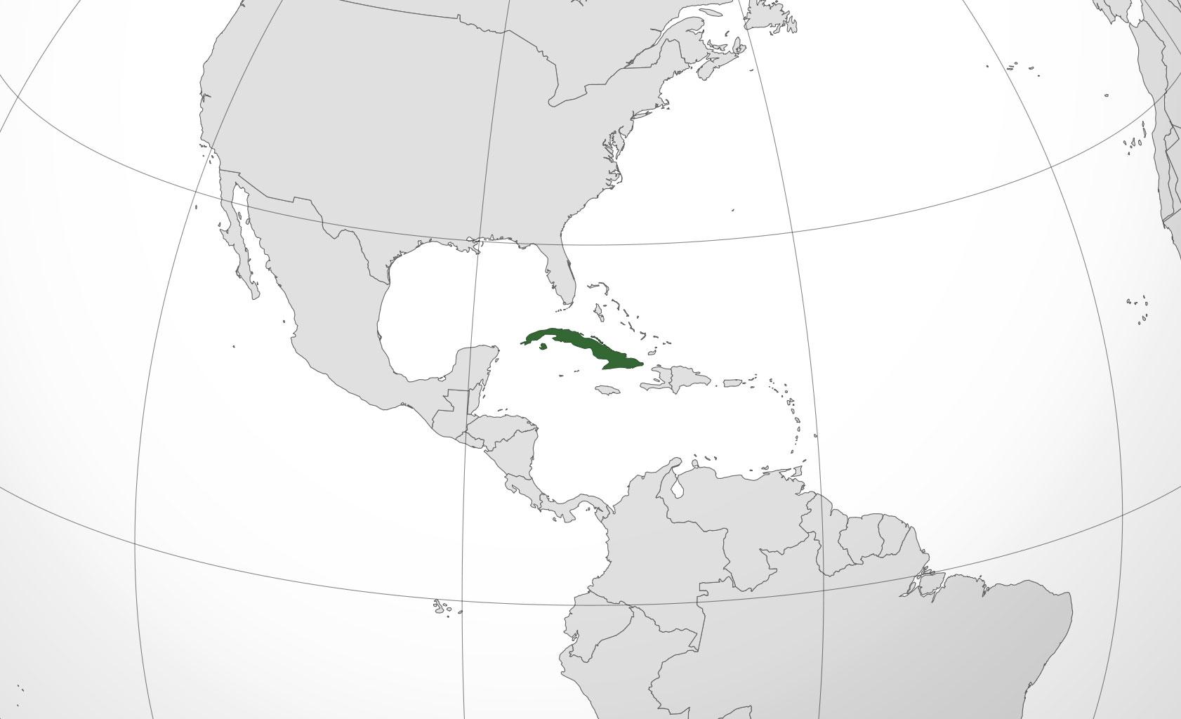 Localización geográfica de Cuba