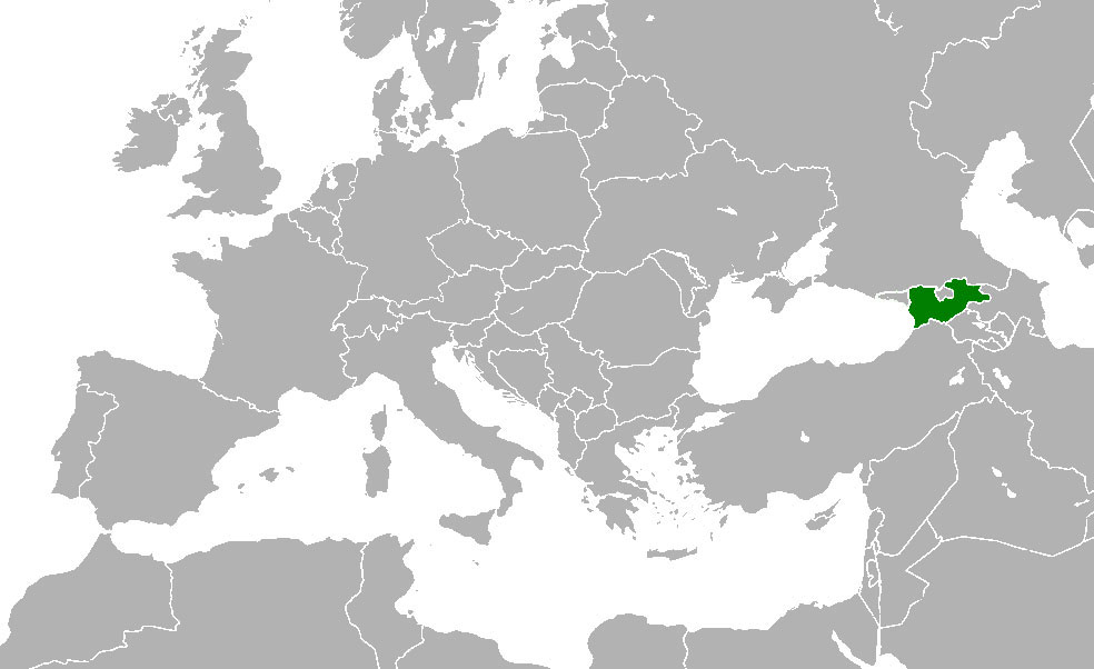Localización geográfica de Georgia