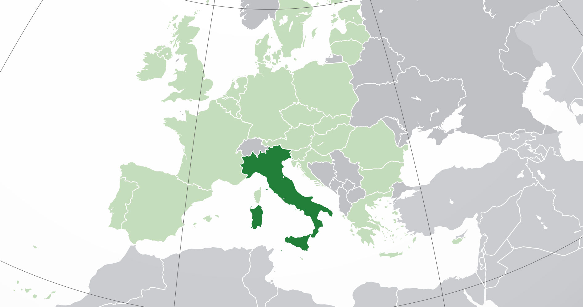 Localización geográfica de Italia