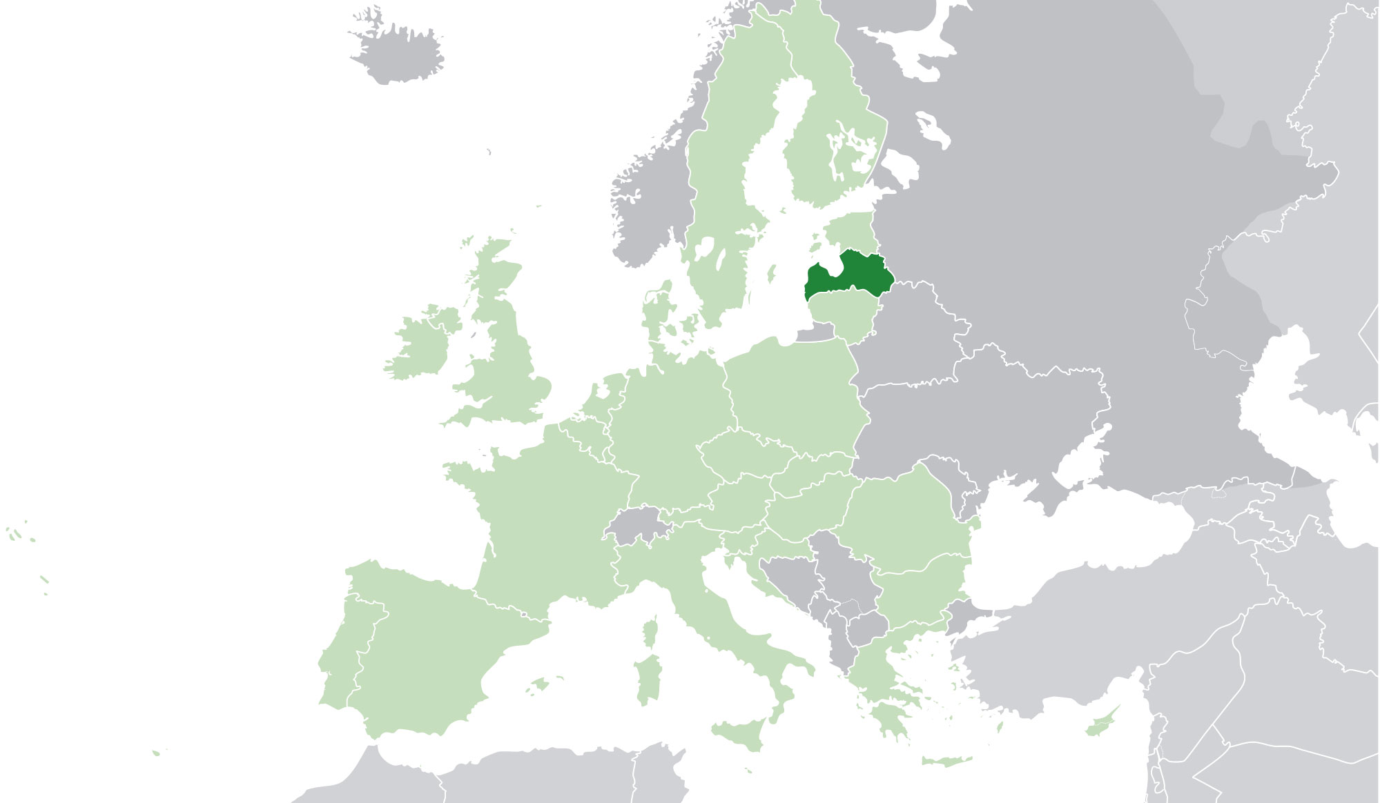 Localización geográfica de Letonia