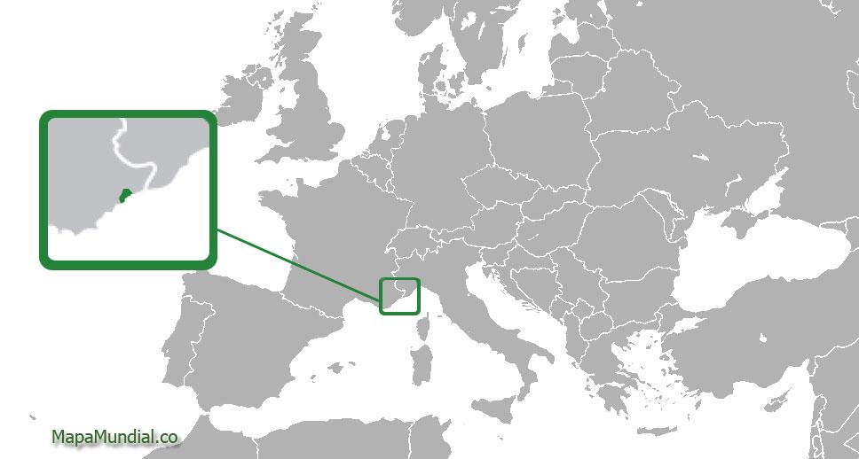 Localización geográfica de Mónaco