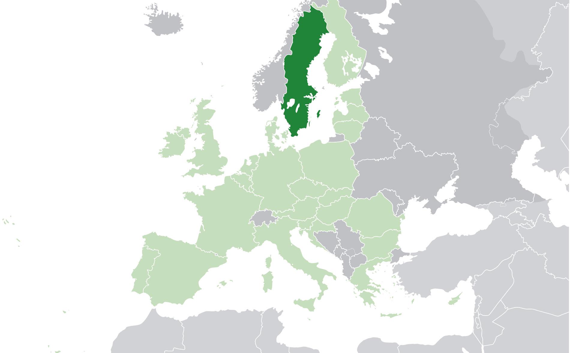 Localización geográfica de Suecia