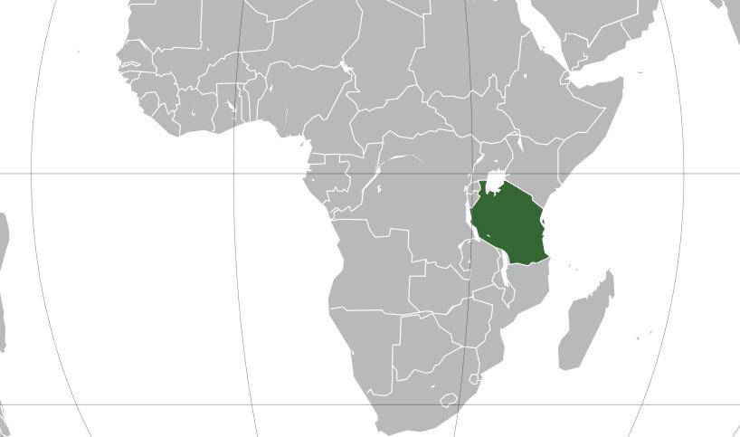 Localización geográfica de Tanzania
