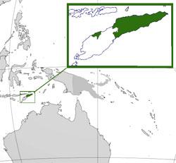 Mapa de Timor Oriental