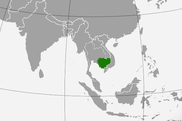 Localización geográfica de Camboya