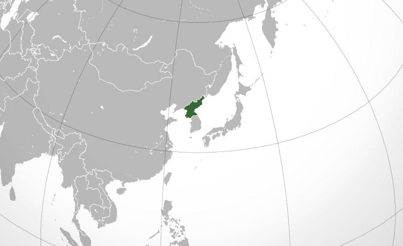 Localización geográfica de Corea del Norte