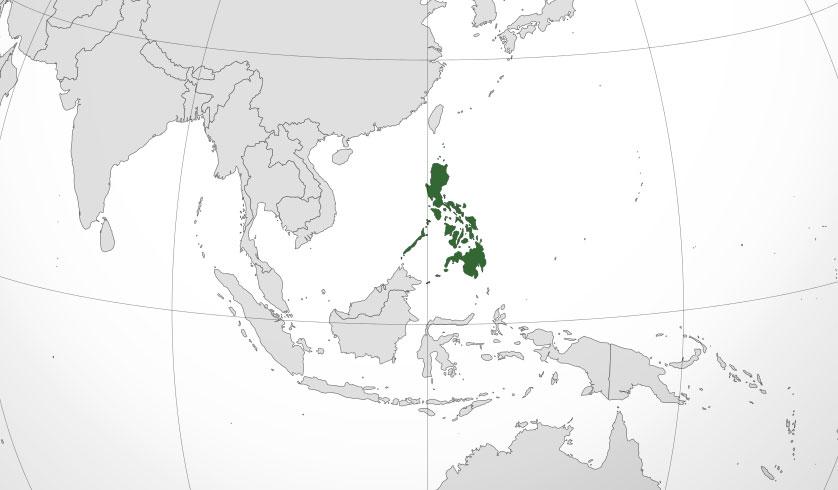 Localización geográfica de Filipinas