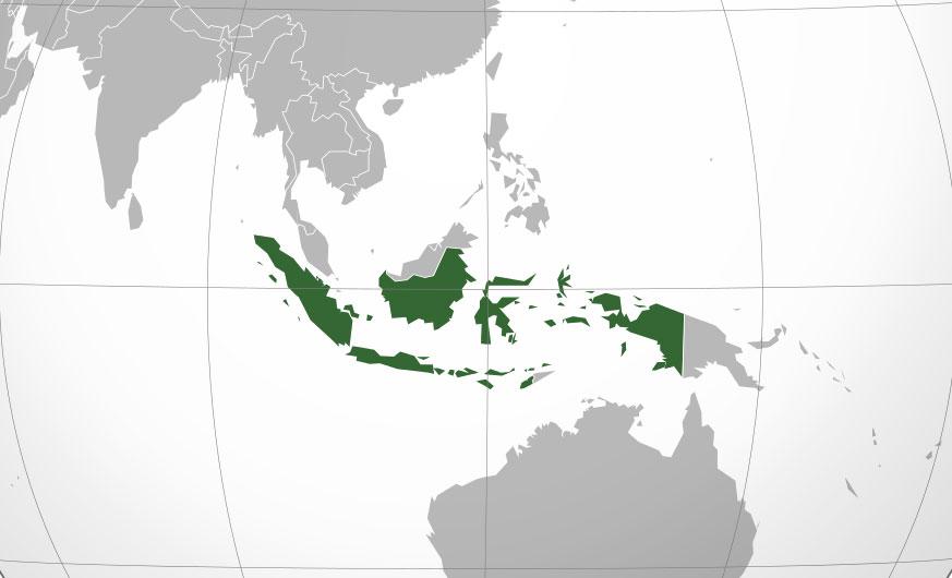 Localización geográfica de Indonesia