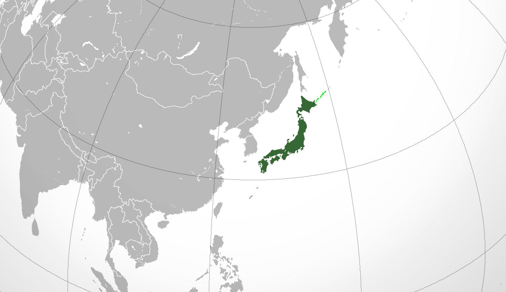 Localización geográfica de Japón