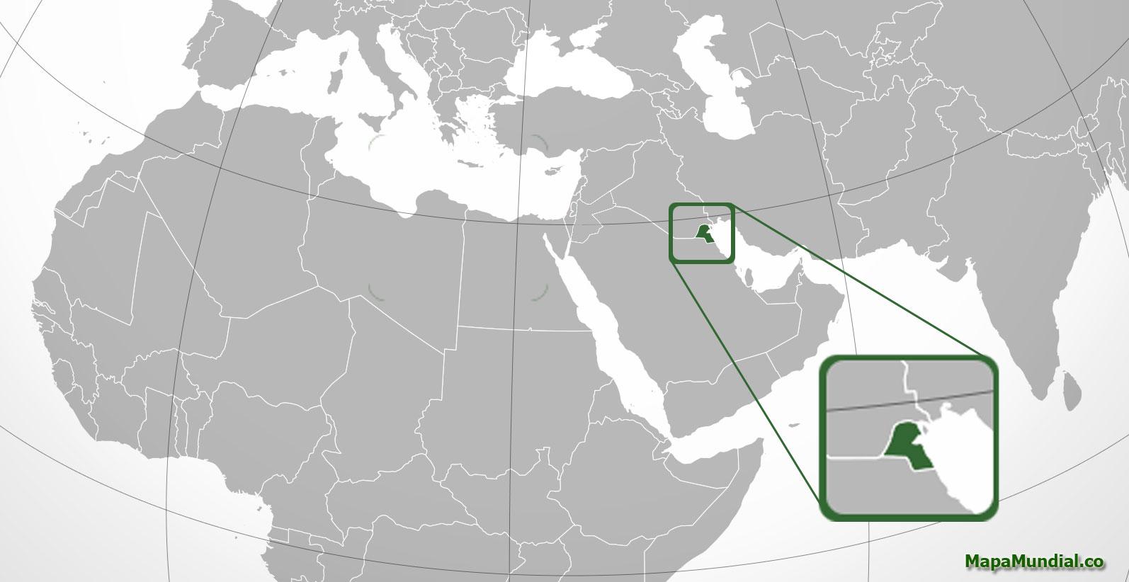 Localización geográfica de Kuwait