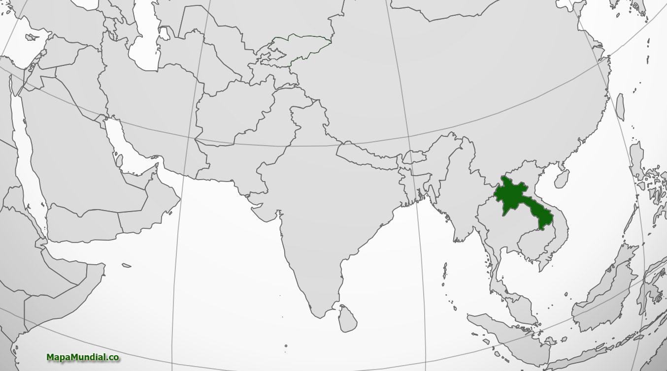 Localización geográfica de Laos