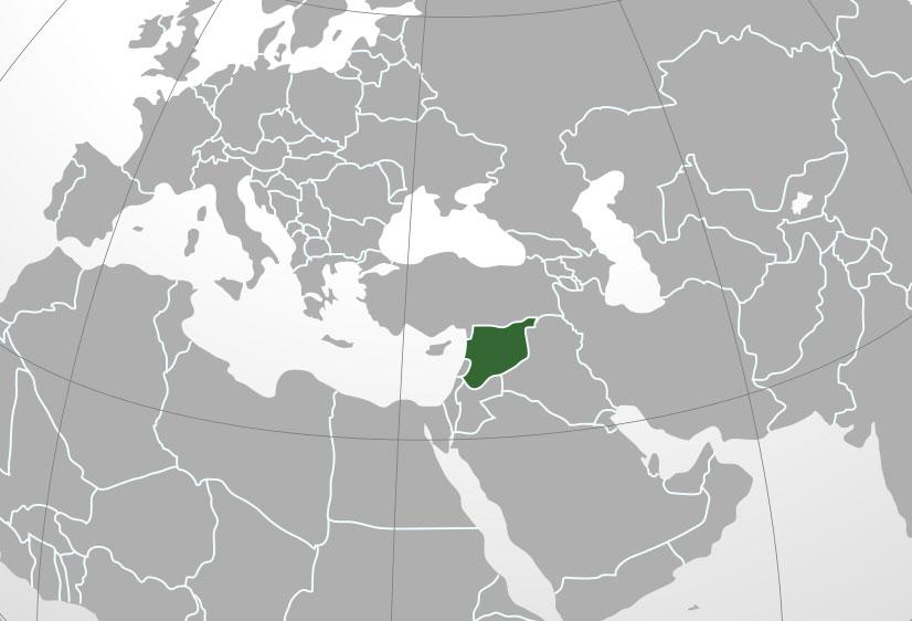 Localización geográfica de Siria