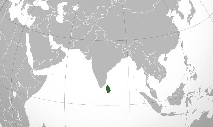 Localización geográfica de Sri Lanka