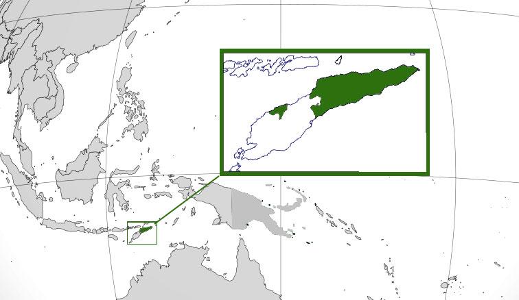 Localización geográfica de Timor Oriental