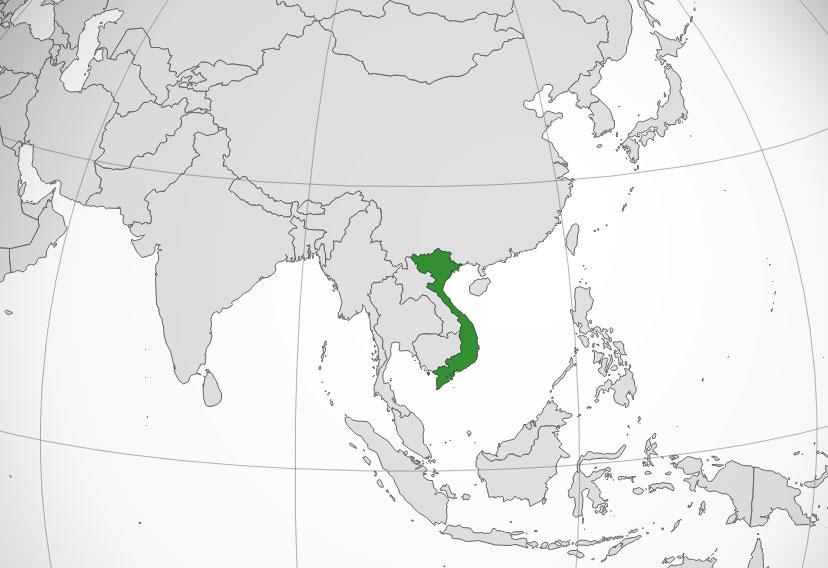 Localización geográfica de Vietnam