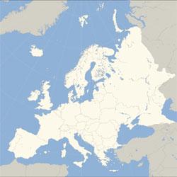 Mapa de Europa vista satelital