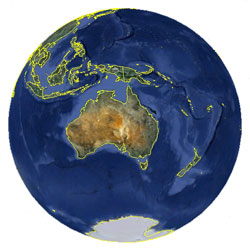 Mapa de Islas Cook vista satelital