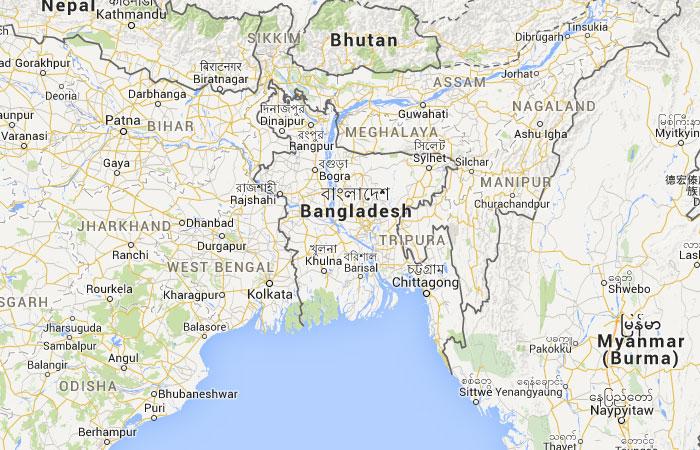 Mapa de Bangladesh (Bangladés)