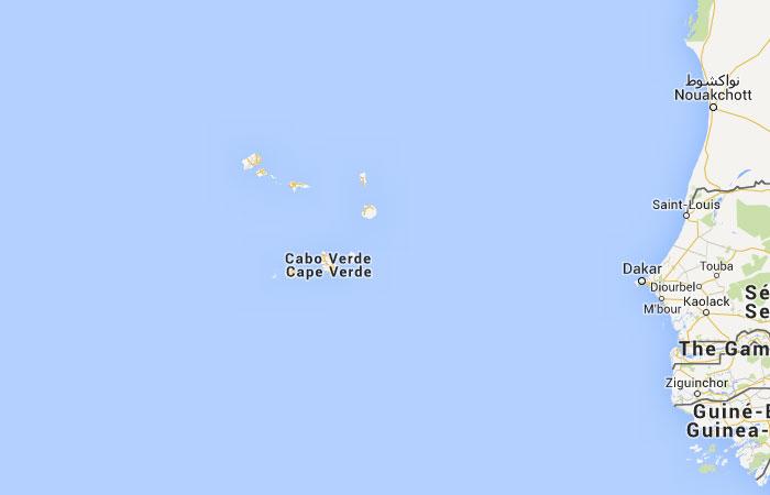 Mapa de Cabo Verde
