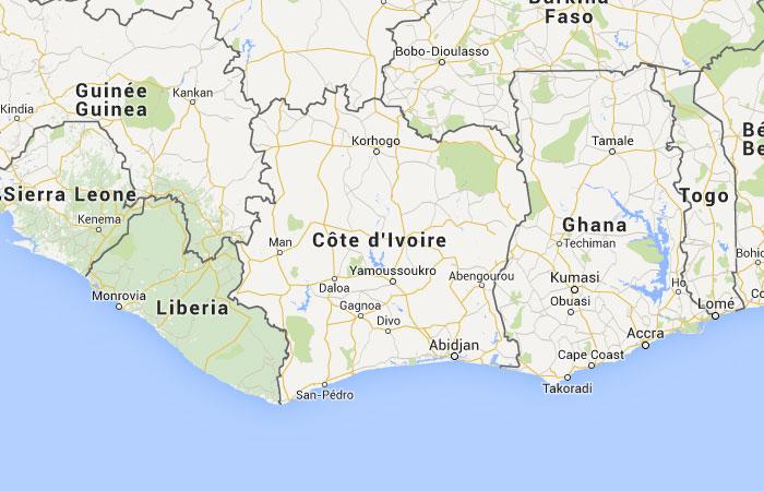 Mapa de Costa de Marfil