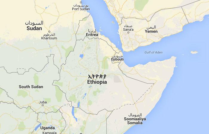 Mapa de Etiopía
