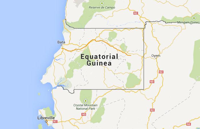 Mapa de Guinea Ecuatorial