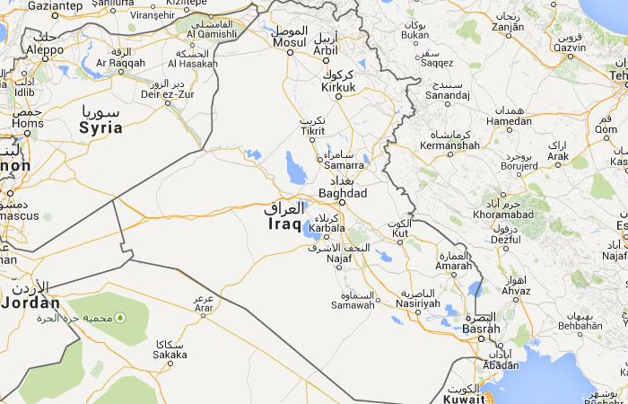 Mapa de Iraq (Irak)