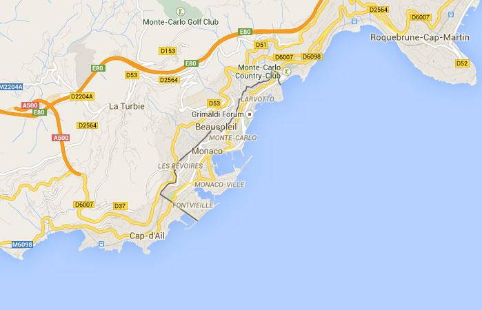 Mapa de Mónaco