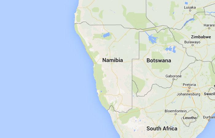 Mapa de Namibia