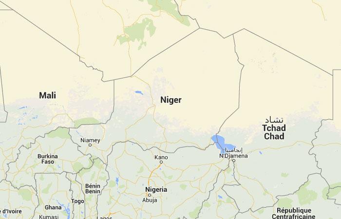Mapa de Niger