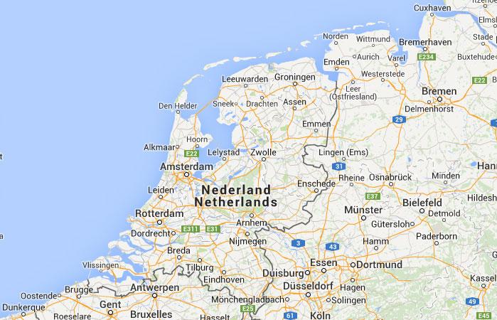 Mapa de Holanda (Países Bajos)