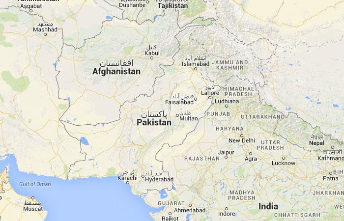 Mapa de Pakistán