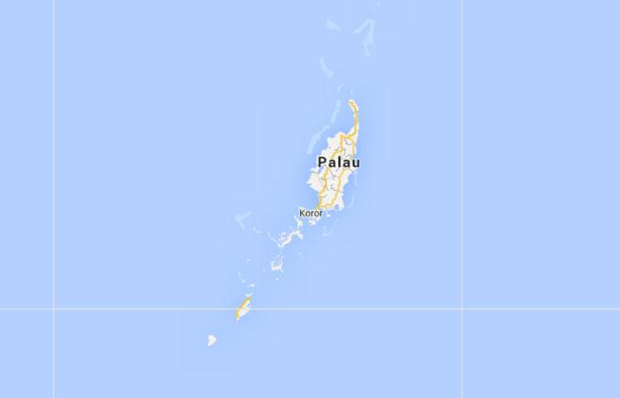 Mapa de Palaos