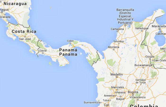 Mapa de Panamá