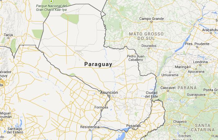 Mapa de Paraguay