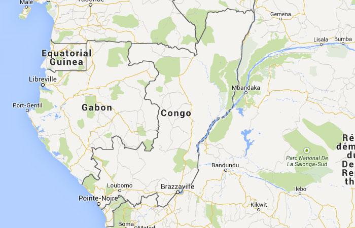 Mapa de República del Congo