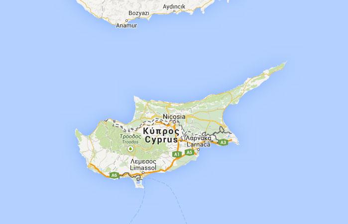 Mapa de República Turca del Norte de Chipre